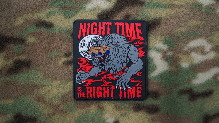 Red Night Time Is The Right Time Morale Patch
