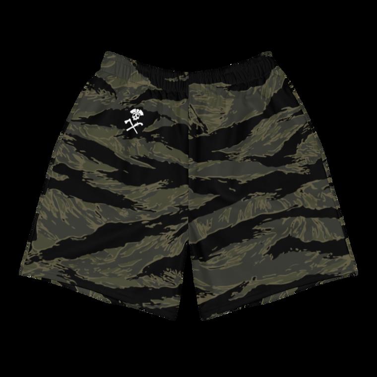 Black Tiger Stripe Shorts