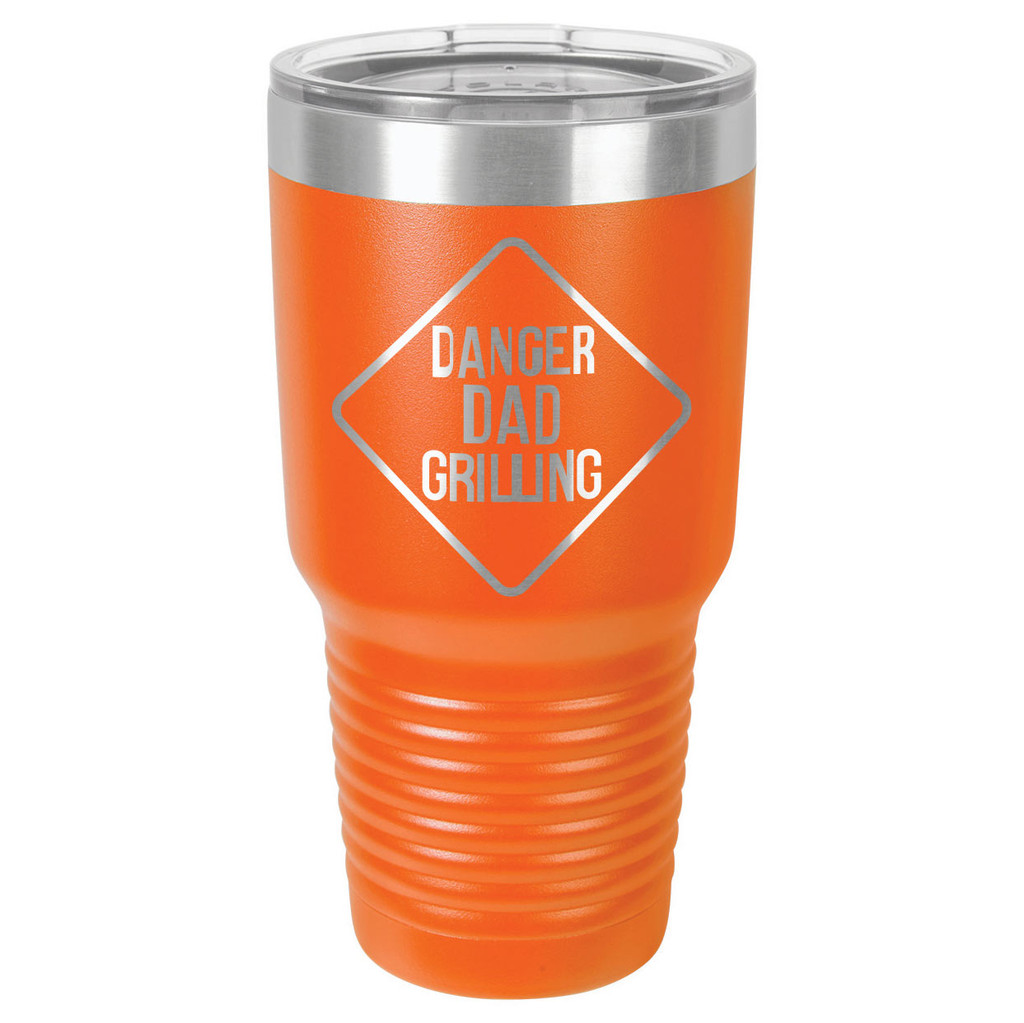 DANGER DAD GRILLING 30 oz Drink Tumbler With Straw