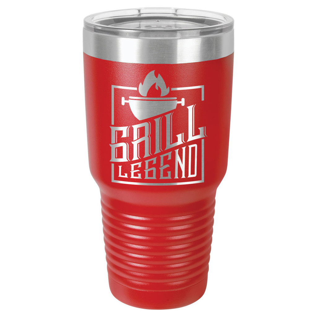 GRILL LEGEND 30 oz Drink Tumbler With Straw