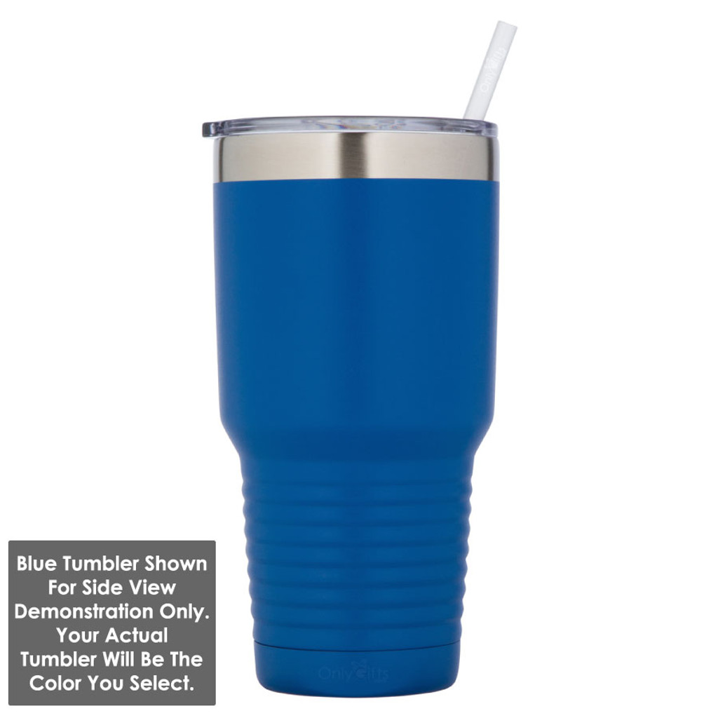 VEGETARIAN 30 oz Drink Tumbler With Straw