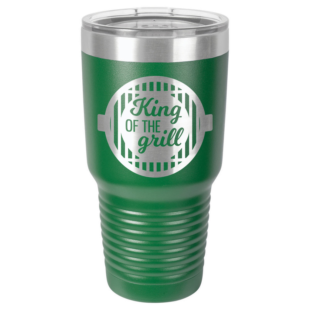 KING OF THE GRILL-B 30 oz Drink Tumbler With Straw