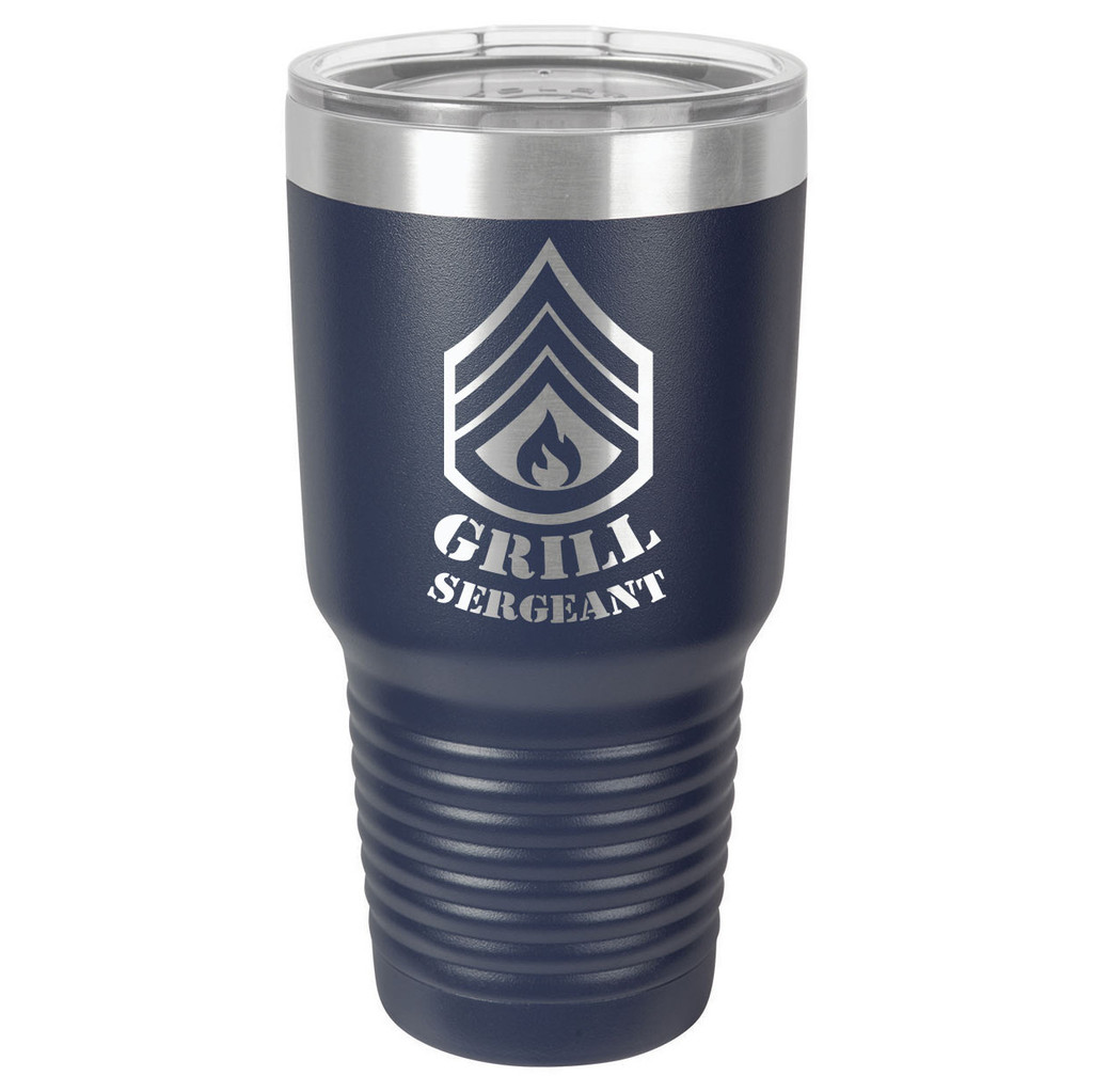 GRILL SERGEANT 30 oz Drink Tumbler With Straw