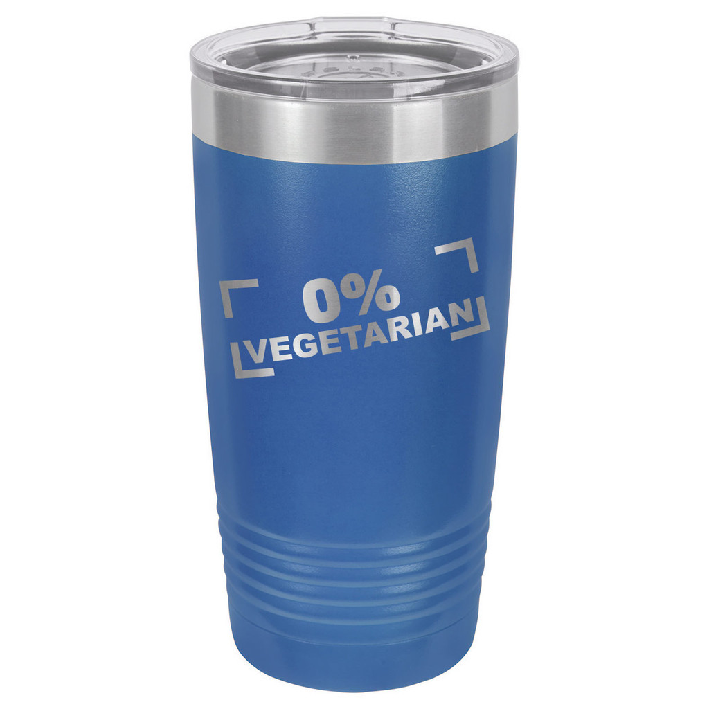 ZERO PERCENT VEGETARIAN 20 oz Drink Tumbler With Straw