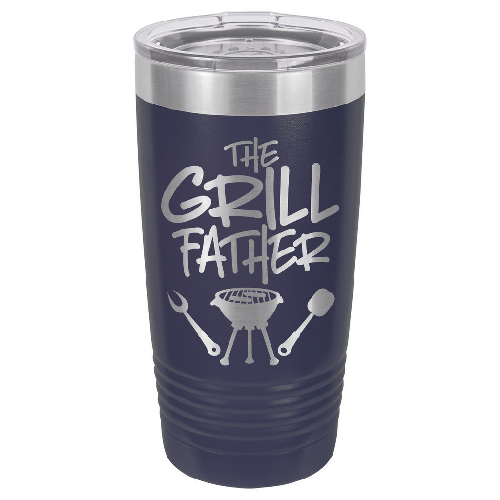 THE GRILLFATHER-B 20 oz Drink Tumbler With Straw