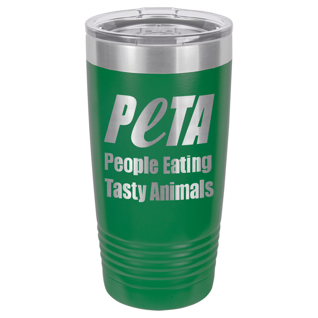 PEOPLE EATING TASTY ANIMALS 20 oz Drink Tumbler With Straw