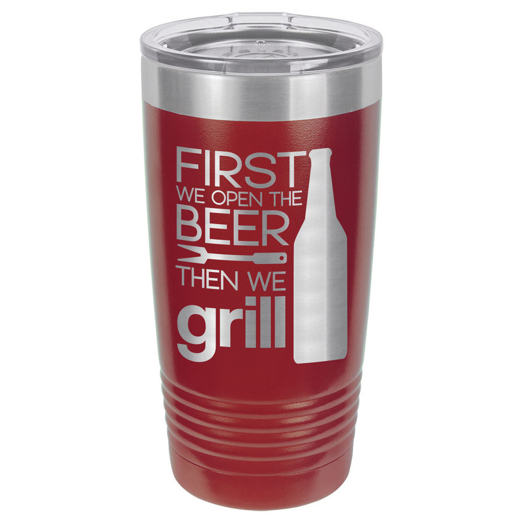 GRILL THINGS 20 oz Drink Tumbler With Straw