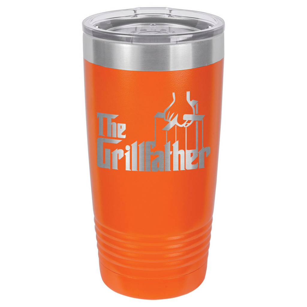 THE GRILLFATHER 20 oz Drink Tumbler With Straw