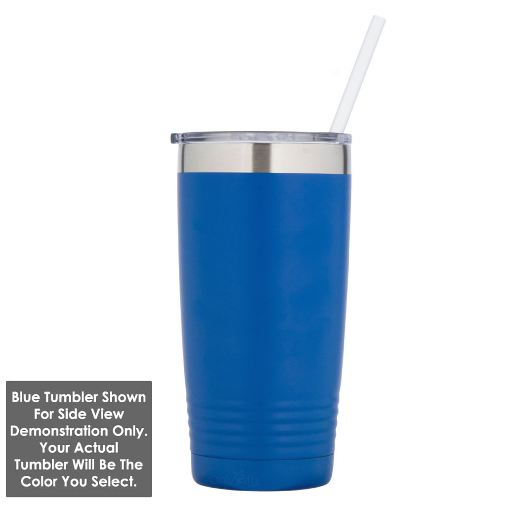 VEGETARIAN 20 oz Drink Tumbler With Straw