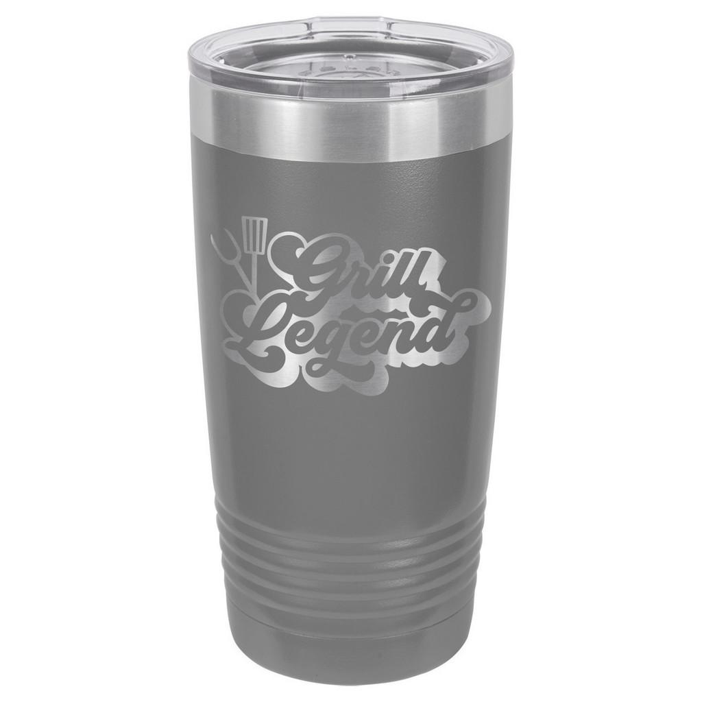 GRILL LEGEND-B 20 oz Drink Tumbler With Straw