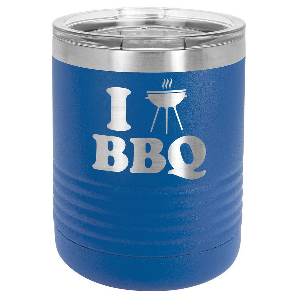 I LOVE BBQ-B 10 oz Lowball Tumbler with Lid