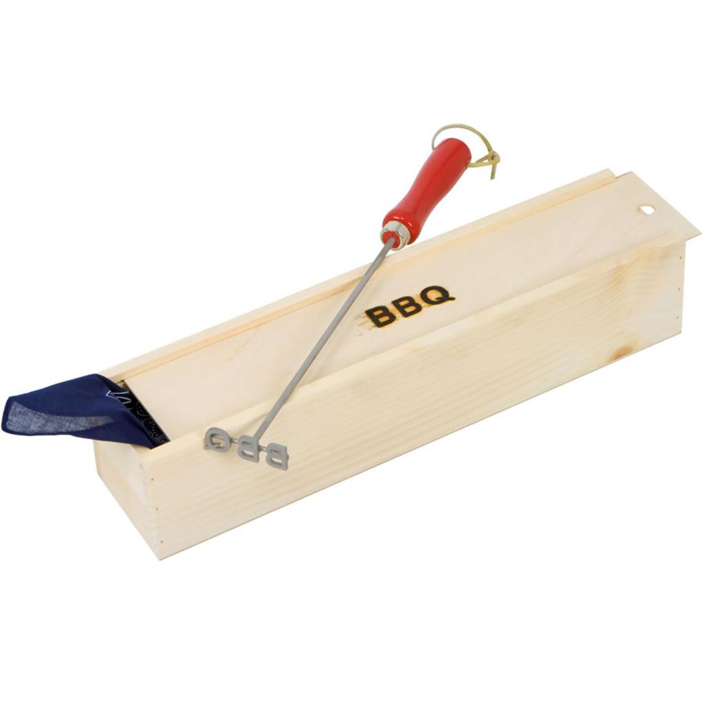 Original monogram branding iron with gift box