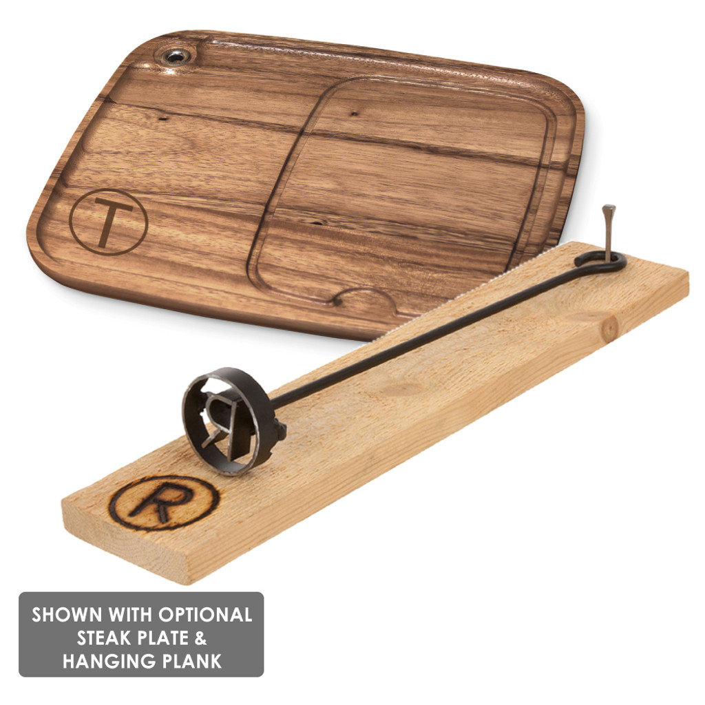 Arrowhead BBQ Branding Iron plank set