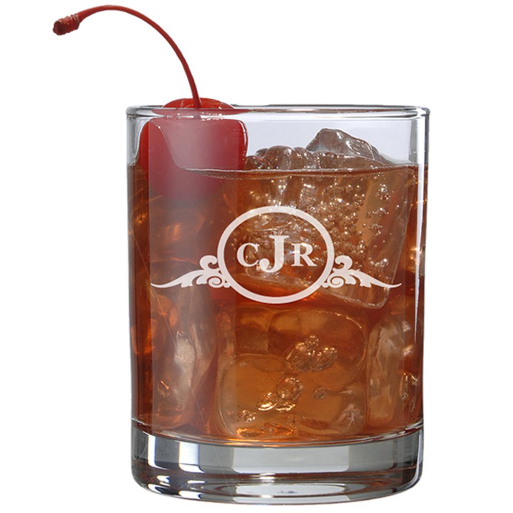 Laser Engraved Whiskey Glass