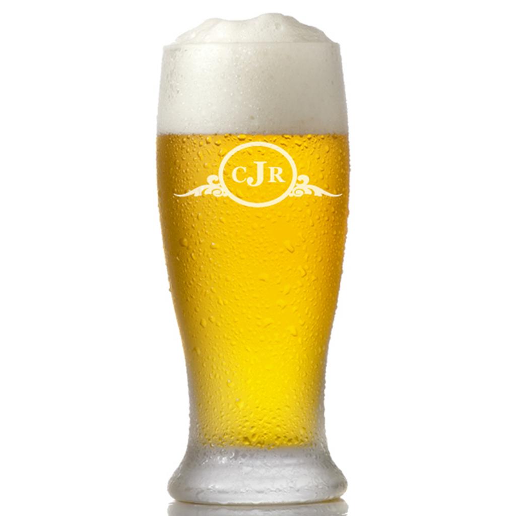 Personalized Pilsner Pub Glasses
