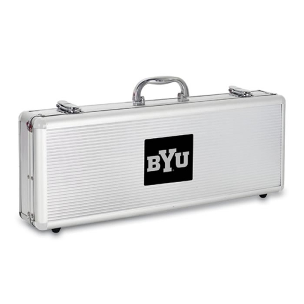 Brigham Young Cougars BBQ Tools and Engraved Case