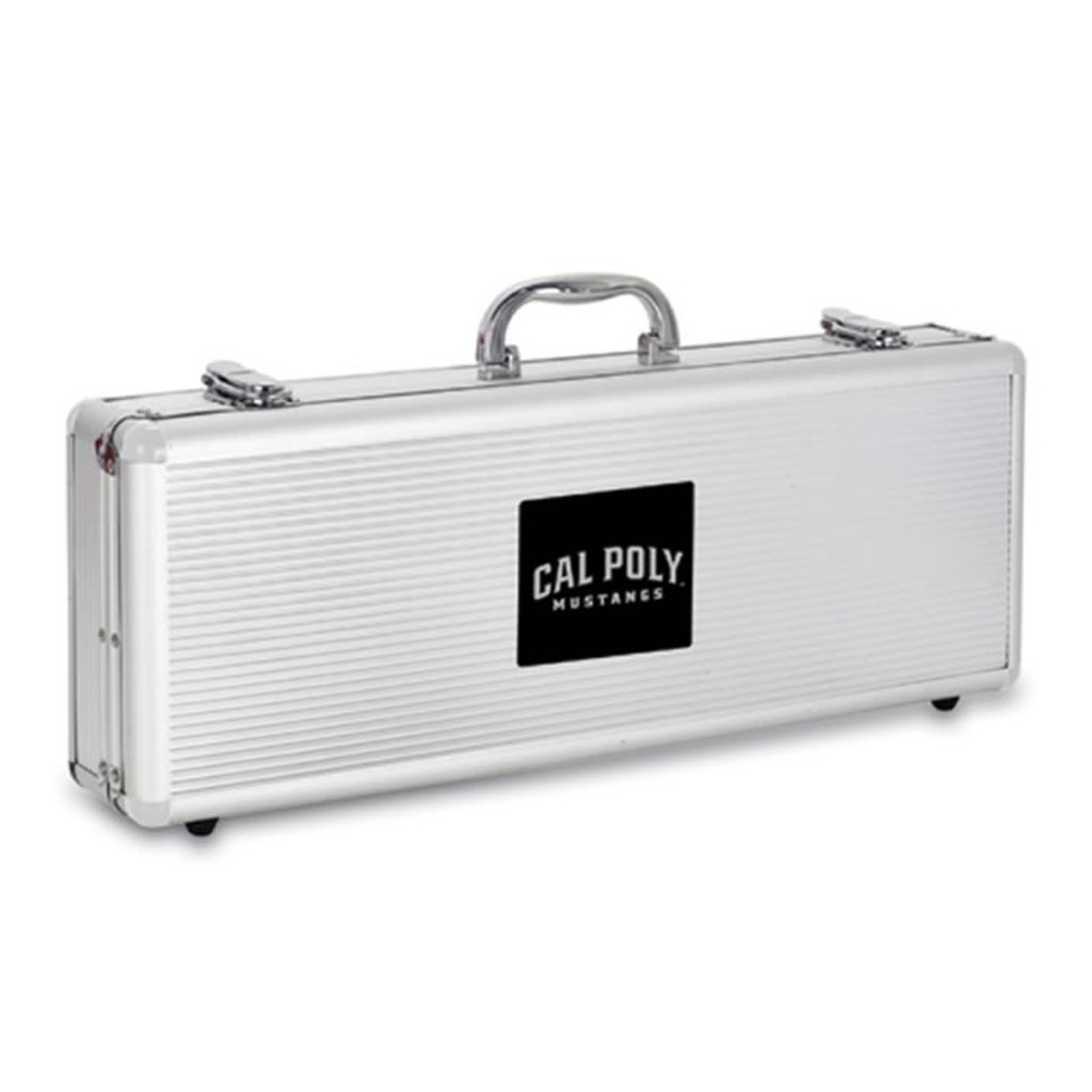 Cal Poly Mustangs BBQ Tools and Engraved Case
