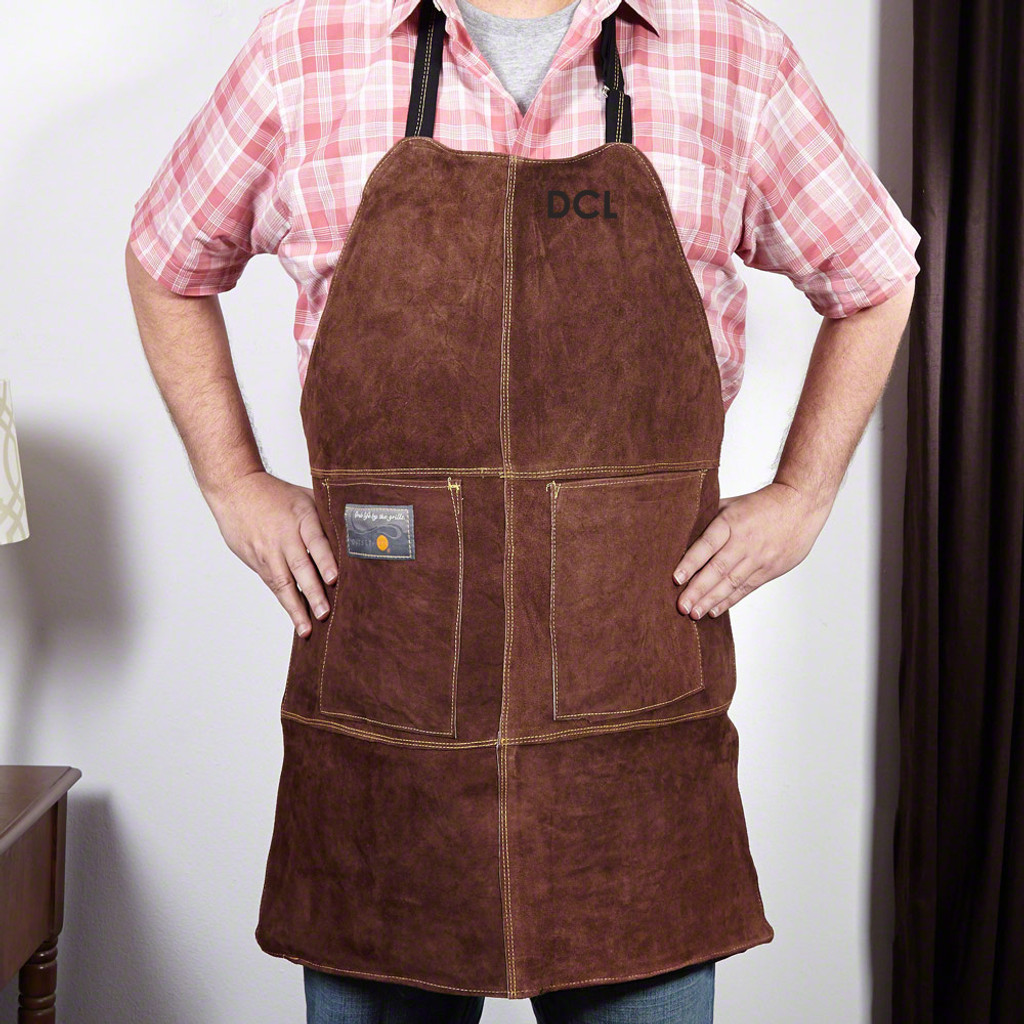 Custom Leather Grill Apron