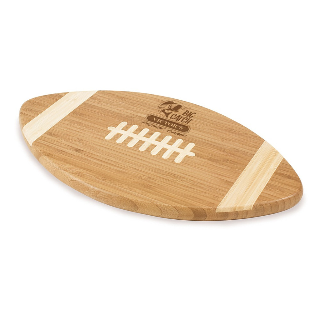 Big Catch Fishin' Camp Football Cutting Board