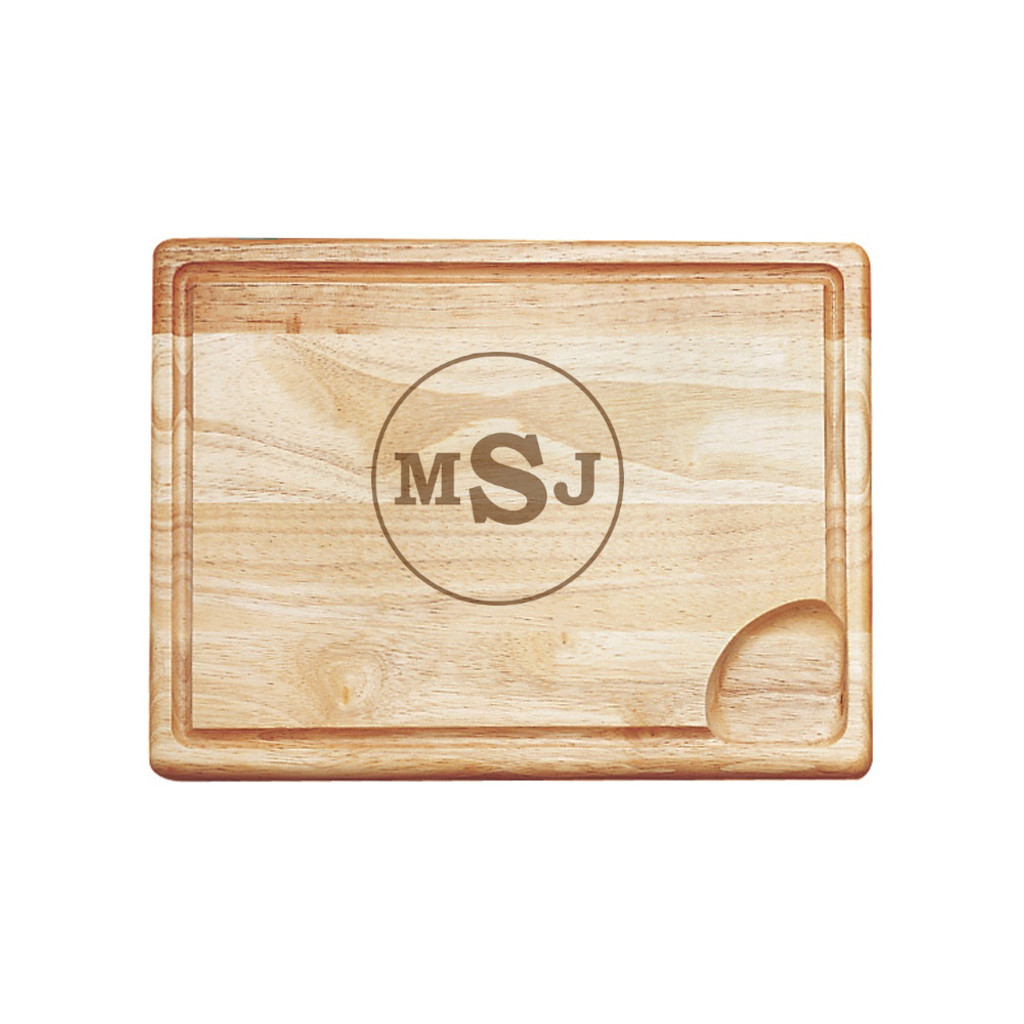 Circle Monogram Carving Board