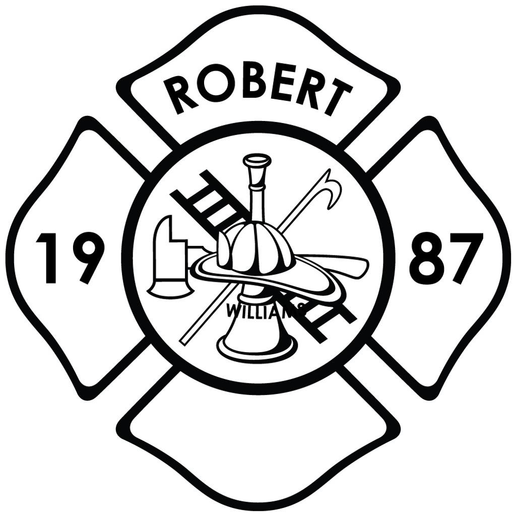 fire department laser engraved design
