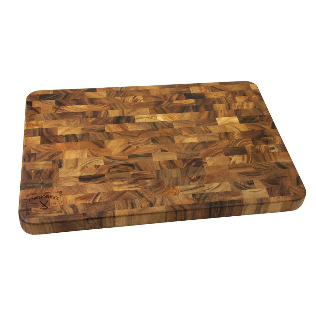 Steakhouse Personalized Large End Grain Cutting Board
