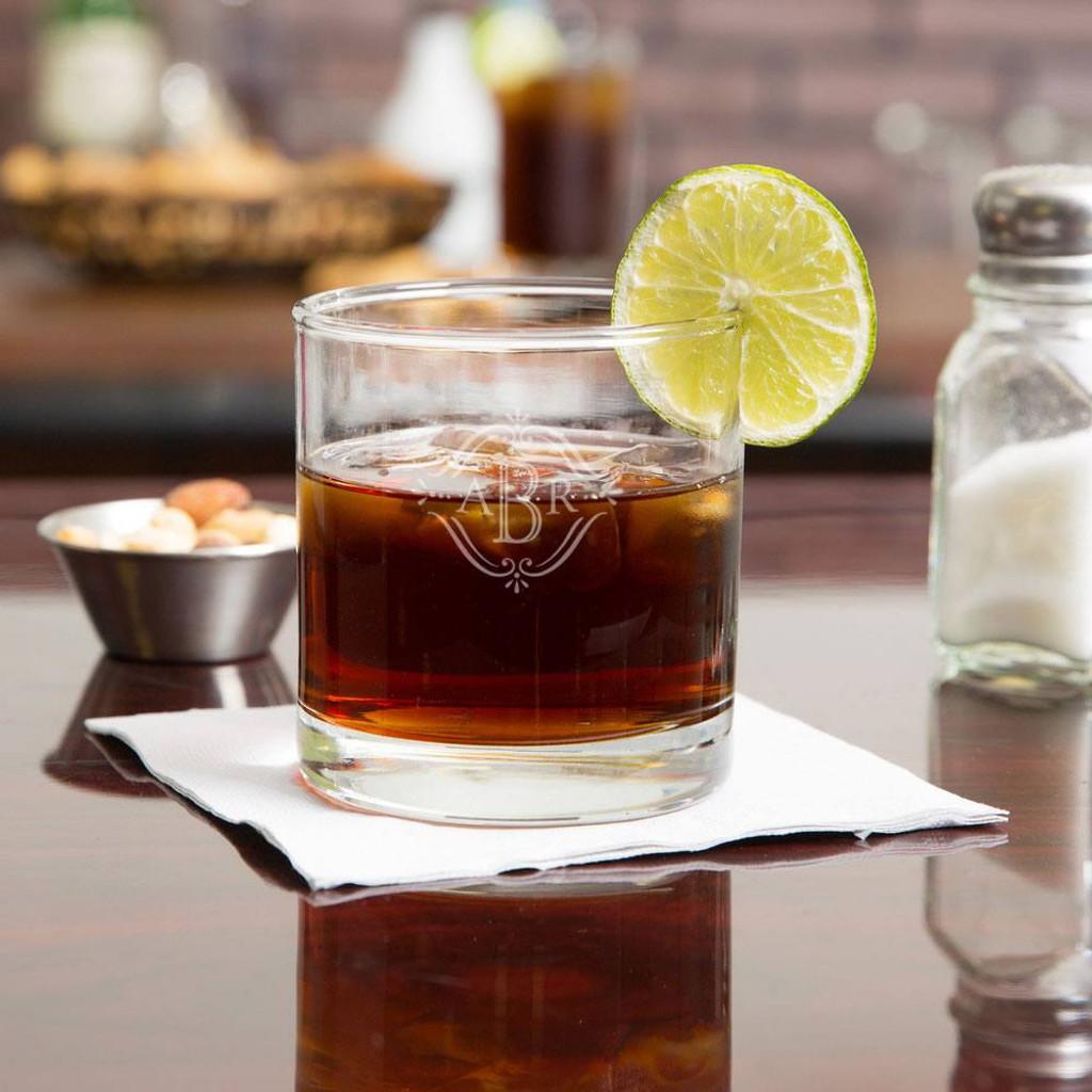 Vintage Monogram Whiskey Glass