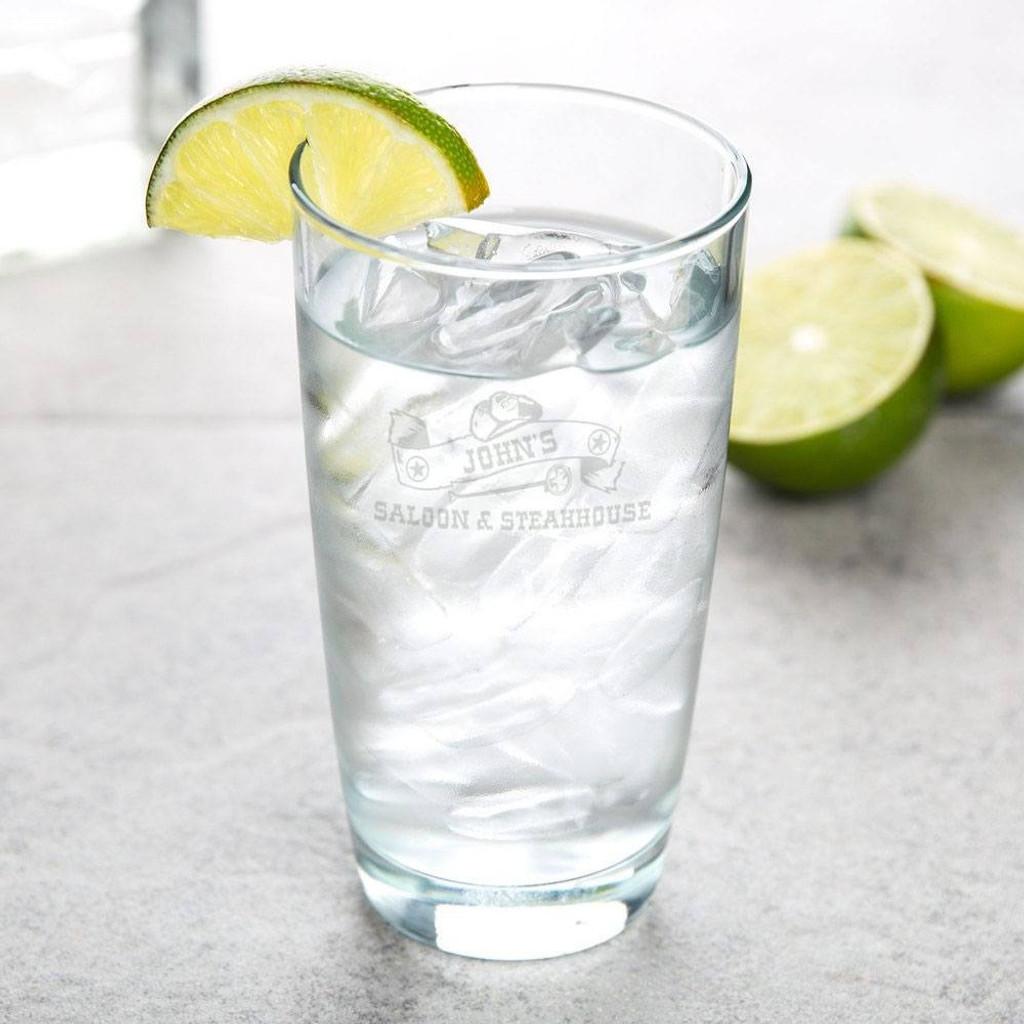 Western Saloon Personalized Hi-Ball Glass