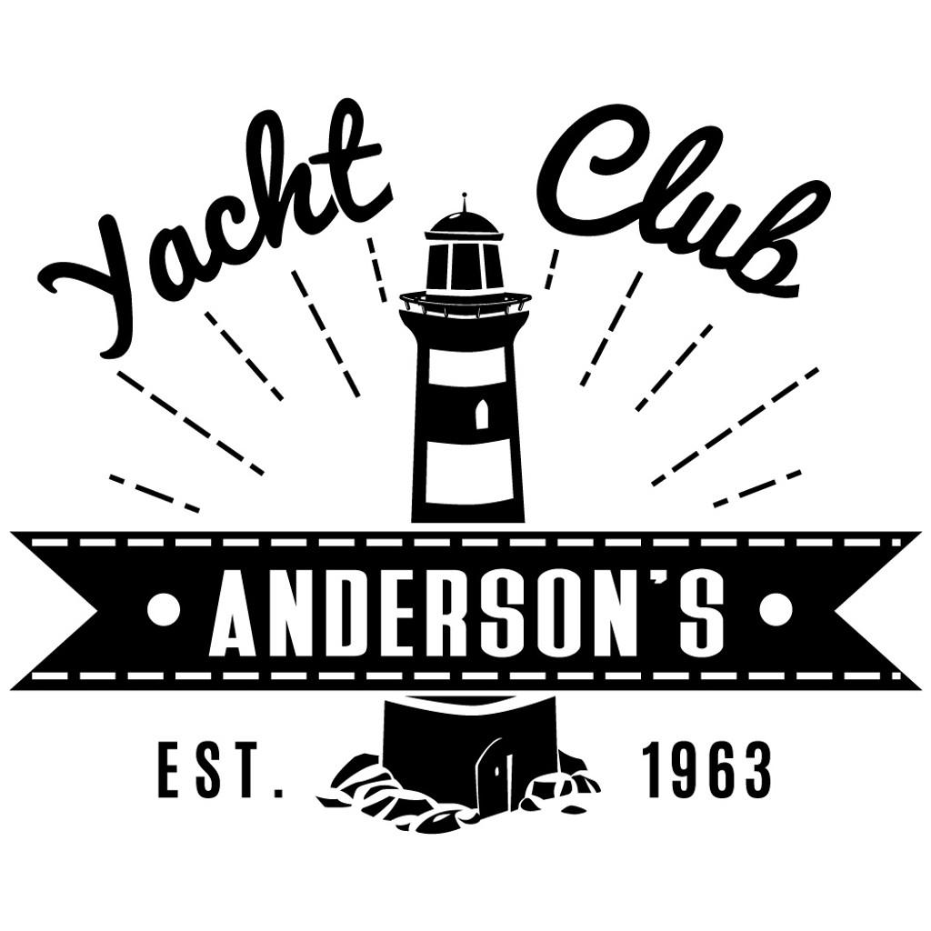 yacht club laser engraved design
