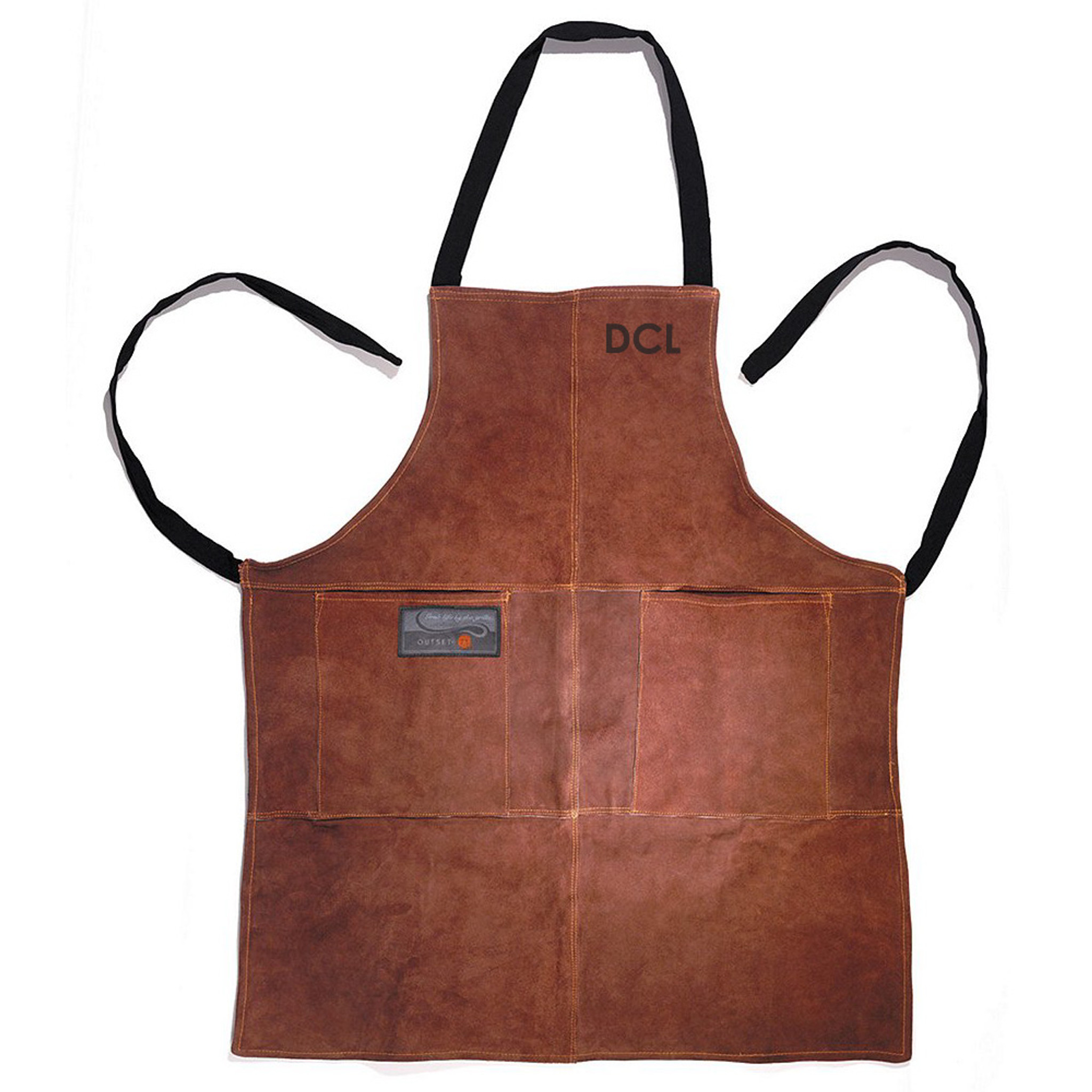 Personalized Leather Grilling Apron | BBQ FANS