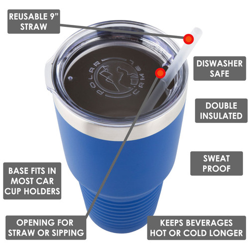 I DRINK AND I GRILL THINGS 30 oz Drink Tumbler With Straw