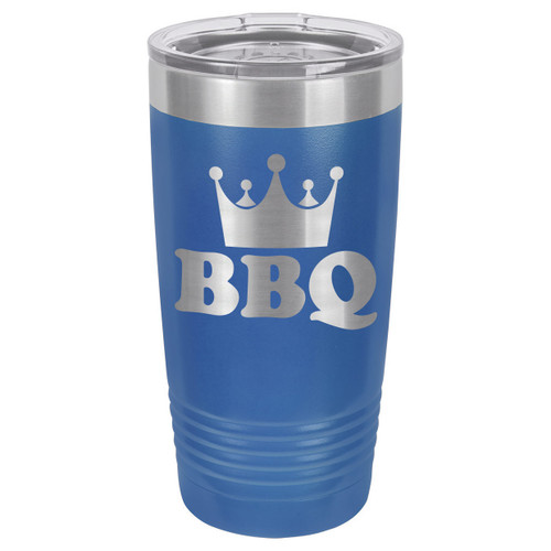 BBQ KING 20 oz Drink Tumbler With Straw