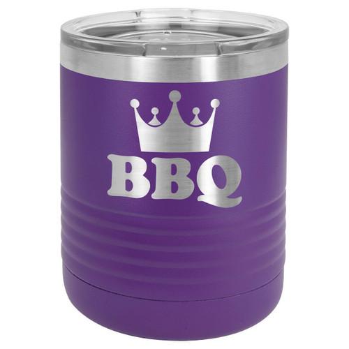 BBQ KING 10 oz Lowball Tumbler with Lid