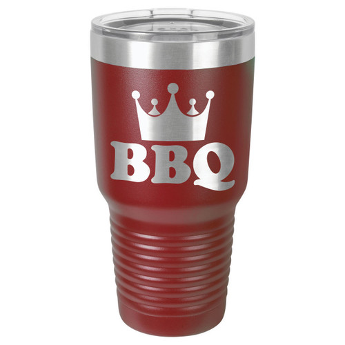 BBQ KING 30 oz Drink Tumbler With Straw