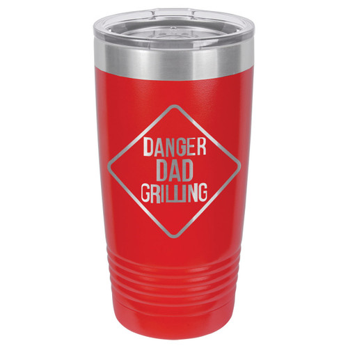 DANGER DAD GRILLING 20 oz Drink Tumbler With Straw