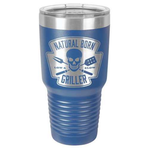 NATURAL BORN GRILLER 30 oz Drink Tumbler With Straw