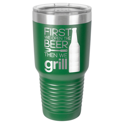 GRILL THINGS 30 oz Drink Tumbler With Straw