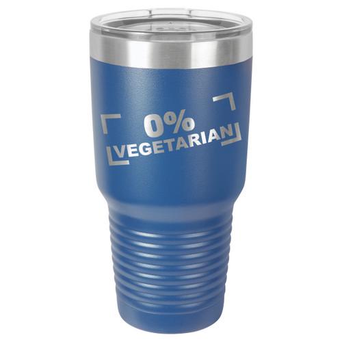 ZERO PERCENT VEGETARIAN 30 oz Drink Tumbler With Straw