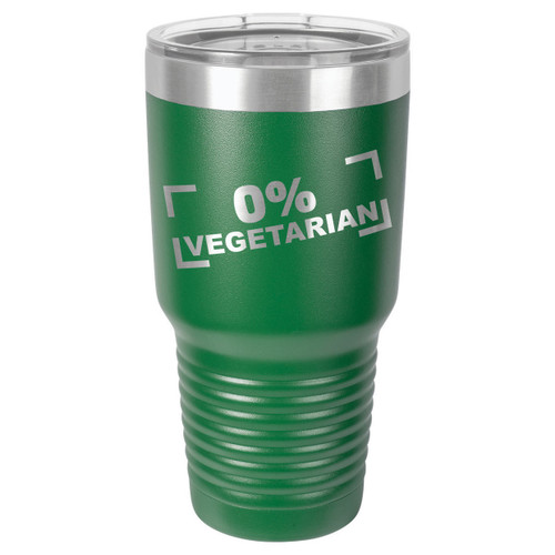 ZERO PERCENT VEGETARIAN 30 oz Drink Tumbler With Straw