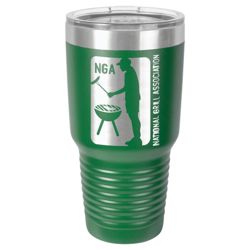 NATIONAL GRILL ASSOCIATION 30 oz Drink Tumbler With Straw