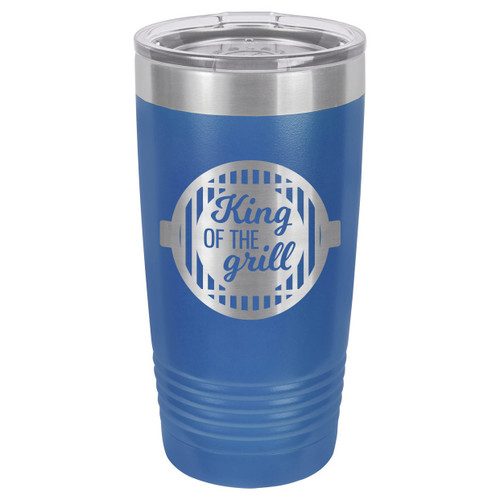 KING OF THE GRILL-B 20 oz Drink Tumbler With Straw