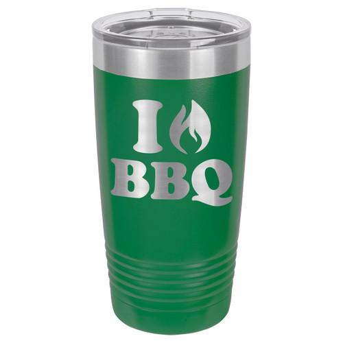 I LOVE BBQ 20 oz Drink Tumbler With Straw