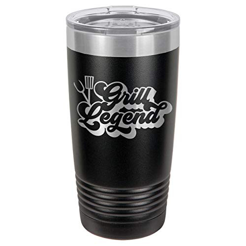 GRILL LEGEND-B 20 oz Drink Tumbler With Straw