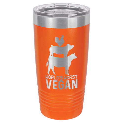 WORLDS WORST VEGAN 20 oz Drink Tumbler With Straw