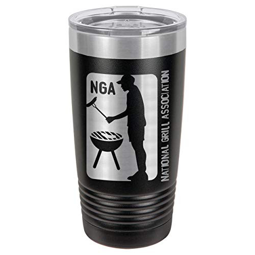 NATIONAL GRILL ASSOCIATION 20 oz Drink Tumbler With Straw