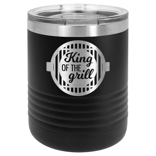 KING OF THE GRILL-B 10 oz Lowball Tumbler with Lid