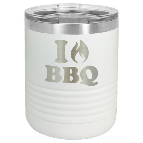 I LOVE BBQ 10 oz Lowball Tumbler with Lid