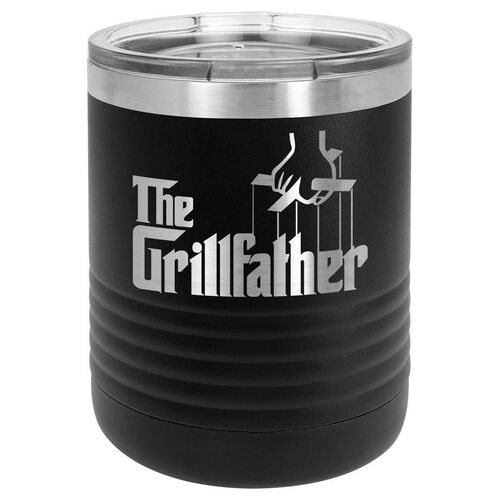 THE GRILLFATHER 10 oz Lowball Tumbler with Lid