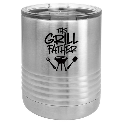 THE GRILLFATHER-B 10 oz Lowball Tumbler with Lid