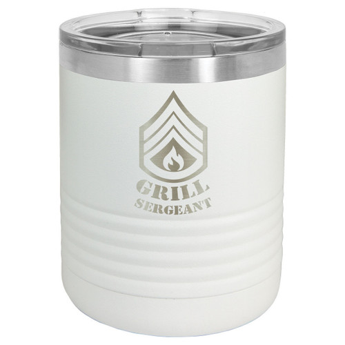 GRILL SERGEANT 10 oz Lowball Tumbler with Lid